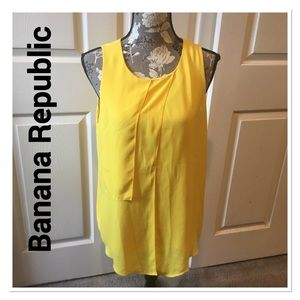 BANANA REPUBLIC Yellow Sleeveless Blouse medium